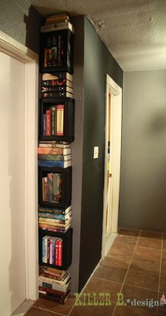 Oh, you odd little corners--soon you shall belong to my books.  ~rubs hands together eagerly~  (soon it won't matter what colour the walls are--they will be BOOK-coloured.)