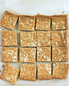 Chewy Oatmeal Blondies - Martha Stewart Recipes