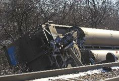 A train carrying coal derailed Jan 2014 in the Village of Caledonia, forcing the closure of Five Mile Road.