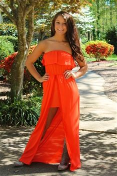 Cali Cove Dress Orange $42.99 #SouthernFriedChics