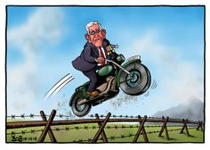 Bob Cartoon - Telegraph (8 June 2014) The Great Escape