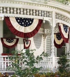 Victorian home with patriotic decorations