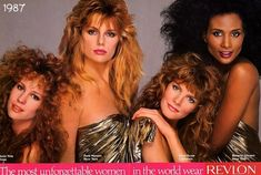 I refuse to make fun of this hair because a) Patti Hansen's in the shot and she is fierce and b) it looked awesome to me at the time and probably will again in a few years. Just give 1987 some time. #80s #hair #advertising