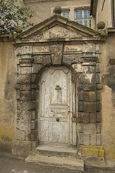 Autun - Roman door, via Flickr.