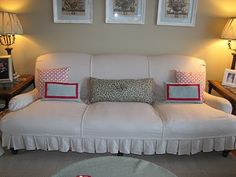 Step by step instructions on making a slipcover
