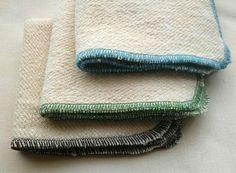 Hemp and Organic Cotton French Terry 3 Washcloth by AquarianBath, $14.75