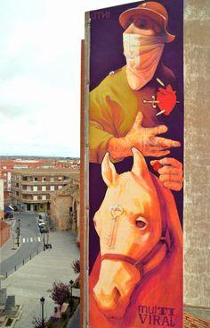 "Artist :INTI ""Multi Viral"" New Mural - Quintanar de la Orden, Spain"