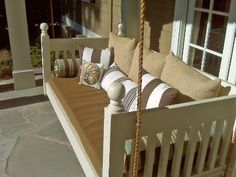 Hanging Porch Beds back patio, swing beds, porch swings, hanging beds, twin beds, hous, back porches, front porches, screened porches