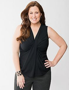 Full Figure Twist Front Shell by Lane Bryant | Lane Bryant
