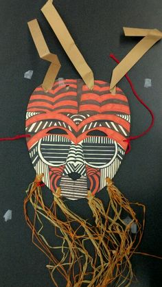 African masks, symmetry and sharpie
