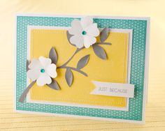 Another cute, trendy card from Close To My Heart! Would you believe this card was inspired by a photo of shoes?