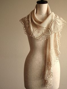 pretty light  Ravelry: knittimo's silken haruni in Handmaiden silk - ELEGANT!