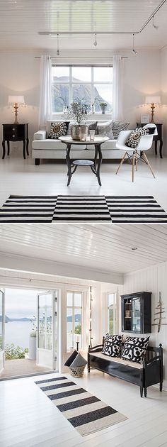 STAGING :: Mix of modern & classic pieces. Great layout. | #moderndecor #classicdecor #monochrome