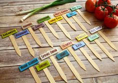 Vegetable Garden Markers for Flowers Herbs by BoulderDesign, $36.00