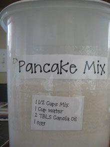 Pancake Mix recipe.