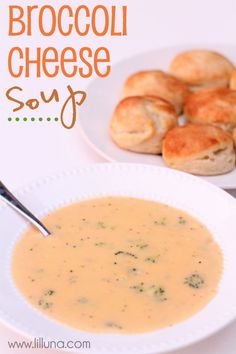 The best Broccoli Cheese Soup ever!! SO good { lilluna.com }