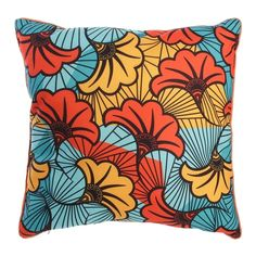 Coussin ethnique wax - l. 40 x l. 40 cm bleu The Home Deco Factory | La Redoute