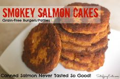 Smokey Salmon Cakes: 1 can wild salmon, drained and large bones removed 1 egg 2 tbsp. mayonnaise 1 tbsp. lemon juice 1 tbsp. crushed garlic 1 small onion, diced (or 3/4 cup frozen chopped onion) 1/2 bell pepper, diced (optional) 1/4 tsp. red pepper flakes Heaping 1/4 tsp. sea salt 1 tsp. garlic powder 1 tsp. onion powder 1-1/2 tsp. smoked paprika  1/2 cup almond flour (or ground pumpkin seeds for nut-free) 1/4 cup bacon grease (or salted butter) for frying pan