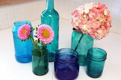 Tinted glass jars-tutorial