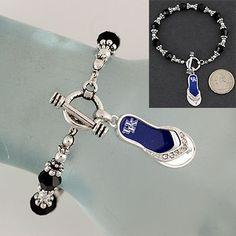 Kentucky Wildcat Flip Flop Toggle Bracelet | eBay