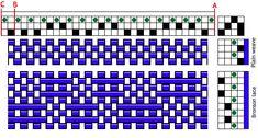Basic 2-shaft jack loom draft for 3-shaft spot bronson