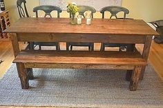 How to make a farmhouse table and bench.