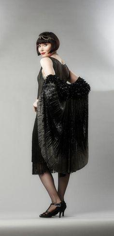 Miss Fisher Murder Mysteries black dress and shawl