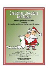 Christmas Literature and Music Missing Letters Puzzle