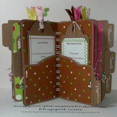 File folder mini cookbook - can request .cut file for Cricut