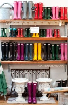 Rubber boots management