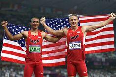 Track & field – men's decathlon  Gold: Ashton Eaton, United States  Silver: Trey Hardee, United States