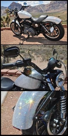 Devas Bling gave this Harley Davidson motorcycle the ultimate Swarovski treatment covering it in hundreds of crystals