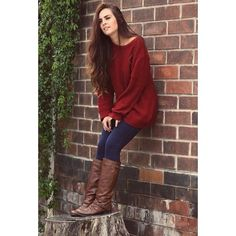 oversized sweater with leggings and boots