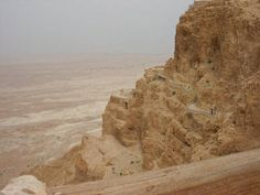 These ruins of Herod's palace stand at the top of Masada.