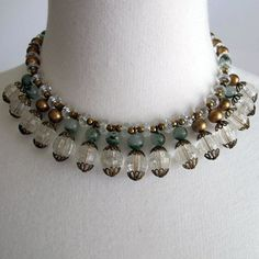 Green and Gold Vintage Choker