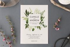 Woodland Wedding Inv