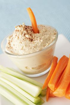 Try our yummy hummus recipe at 131 calories per serving