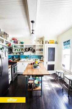 Center of kitchen island/table