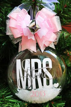 Personalized Wedding Ornament SET Bride