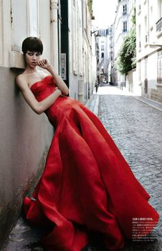 Aymeline Valade in Dior Haute Couture by Patrick Demarchelier for Vogue Japan (November 2012)