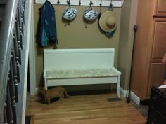 DIY bench from bed - Our Lovely Home