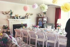 Bridal shower tea party at home