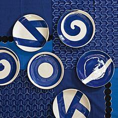Azure Plates - Assorted Set of 4