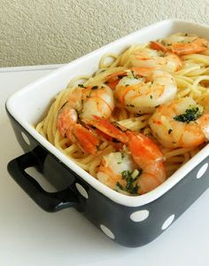 Garlic Cilantro Shrimp Pasta