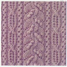 Free chart Lace Knitting Stitch #55 | Lace Knitting Stitches