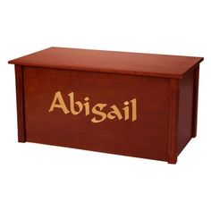 Wood Creations Cherry Finish Toy Box with Multiple Calligraphy $319.99