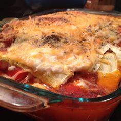 no noodle #glutenfree #vegetable #lasagna @healthpanda