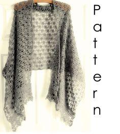 Crochet pattern Pdf- lacy crochet shawl.
