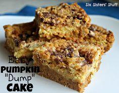 Pumpkin Dump Cake Recipe