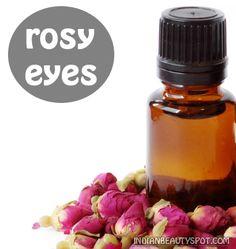 treat dark circles and puffy eyes with a rose eye mask | ♥ IndianBeautySpot.com ♥